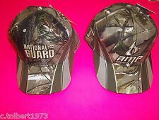 DALE EARNHARDT JR # 88 CAMOUFLAGE NATIONAL GUARD & AMP NASCAR HATS 2 PACK