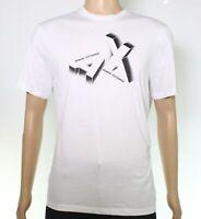 Armani Exchange Mens T-Shirt White Size Small S Logo Graphic Print $40 003