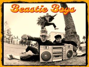 "4.75"" Beastie Boys Boombox vinyl sticker. 80's 90's Hip Hop decal for laptop."