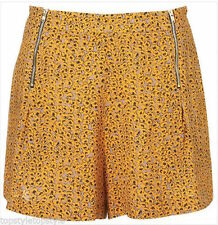 Polyester Floral High Rise Topshop Shorts for Women