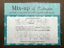 Unity Retired Mixed Up Cuteness Cherries Owl Cupcake Rubber Cling Mount Stamps