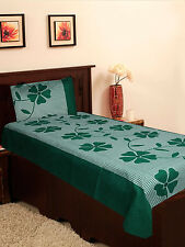 Homefab India Cotton Single Bed-Sheet with 1 Pillow Cover (Single146)