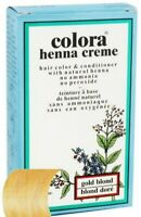 Colora Henna All Natural Organic Creme Hair Color 2oz. GOLD BLOND