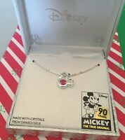 DISNEY MICKEY MOUSE 90TH ANNIVERSARY NECKLACE WITH SWAROVSKI CRYSTAL