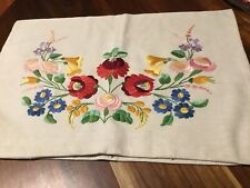 Stunning Large Cushion Cover  Vintage Hand Embroidered