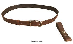 Indiana Jones style Belt Dark Brown Color
