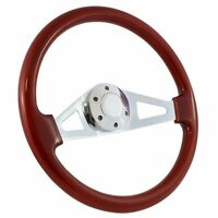 "1960 -1969 Chevy C10 Pick Up Truck 15"" Wood Two-Spoke Steering Wheel - Full Kit"