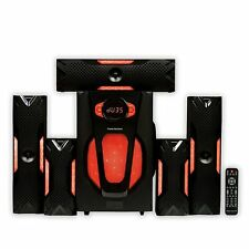 Theater Solutions TS523 Deluxe 5.1 Home Theater Speaker System With Led Lights