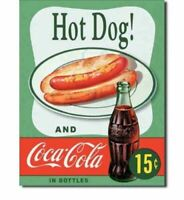 Coca Cola Hot Dog Food Metal Tin Ad Sign Coke Soda Pop Diner Decor Picture Gift