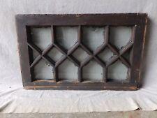 Antique Diamond Pattern Window Tudor Sash Vtg Shabby Cabin Chic 15x24 184-17P