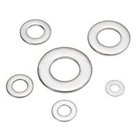 105pcs 304 Flat Stainless Steel Washers M3 M4 M5 M6 M8 M10 for Screws Repai X8O9
