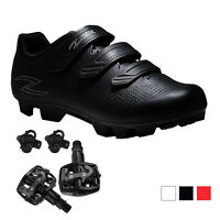 Zol Raptor MTB and Indoor Cycling Shoes with Pedals and Cleats