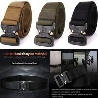 Adjustable Tactical Belts Nylon Military Waist Belt W/Metal Buckle Waist Belt US
