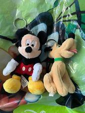 Disneyland Resort Paris Mickey Mouse & Pluto Keyrings