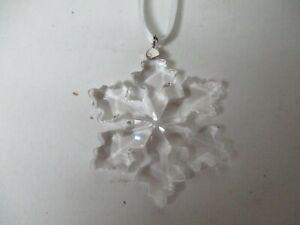 """Tiny 1 3/4"""" Swarovski Crystal Snowflake Star Christmas Ornament #2"""