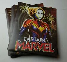 Captain Marvel 3-Prong Poly Folders Lot of 4