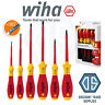 WIHA 25477 Electricians 6 Piece VDE 1000V Slot/Pozi Screwdriver Set + Voltstick