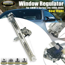 1x Rear Right Window Regulator With Motor for BMW 3 Series E46 1998-2005 Driver