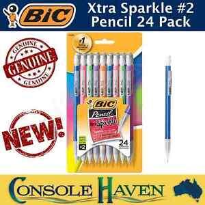 BiC Pencil Xtra Sparkle 24 Pack Mechanical Pencils #2 Medium Point 0.7mm Extra