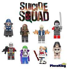 SUICIDE SQUAD - JOKER, HARLEY ETC Set x 8 - Mini Figures fits Lego Custom