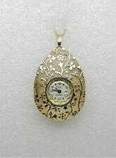 VINTAGE CATENA 10K YELLOW ROLLED GOLD PLATED WATCH PENDANT- RARE FIND - LB-C1555
