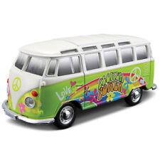 1:25 Hippie Line - Volkswagen diecast model Camper Samba Van Maisto