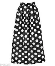 Polyester Polka Dot Machine Washable Regular Skirts for Women