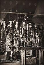 1925 JERUSALEM Church Interior ISRAEL Palestine Religious Art LEHNERT & LANDROCK