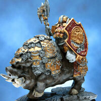 Painted Scibor Miniature Dwarf Lord Dain on War Boar