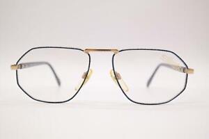 Vintage Silhouette M7088/30 Blue Gold Oval Glasses Frames Eyeglasses NOS