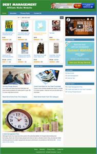 DEBT MANAGEMENT INFORMATION - Affiliate Website For Sale - Free Installation