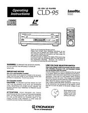 Pioneer Elite CLD-95 LD player PAPER COPY of the very rare owner's manual