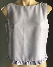 Pre-owned TABLE EIGHT Mauve Suede Look Sleeveless Box Style Top Size 12