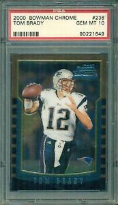 Tom Brady 2000 Bowman Chrome Rookie #236 ** PSA 10 ** The Next $50,000 Card ?