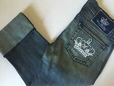 New Victoria Beckham Rock & Republic Cropped Cuffed Jeans Crown Logo Tween Jr 25