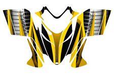 POLARIS SHIFT RMK DRAGON wrap graphics sled deco kit NO1900 Yellow