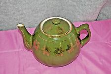 Weller Pottery Green Snowflake Pattern Teapot S4855