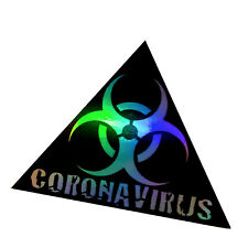 Corona Aufkleber Hologramm Tuningsticker Oilslick Rainbow Auto Folie Autosticker