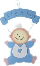 Wandhänger Baby Blau Anhänger Wanddeko Geburt Taufe Junge Boy Babyparty/Shower