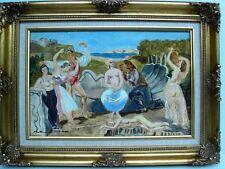 """BERTHOMME ST-ANDRE (1905-1977) """"L'amour et la danse"""" H/ s/papier marouflée/toile"""