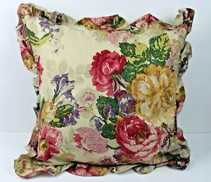 Ralph Lauren Surrey Gardens Floral Pillow Ruffle with Goose Down Insert
