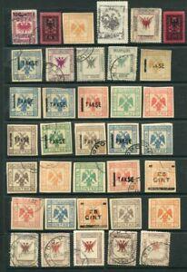 ALBANIA Early M&U Lot EAGLE etc 55 Stamps