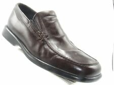 Ecco 050168 Size 10 M Brown Leather Moc Toe Slip On Loafer Casual Mens Shoes