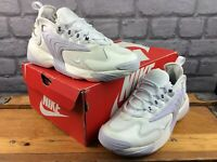 NIKE UK 3.5 EU 36.5 AIR ZOOM 2K OFF WHITE GREY TRAINERS CHILDRENS LADIES RRP£80C
