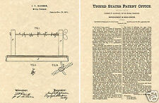 Glidden BARBED WIRE PATENT 1874 Art Print READY TO FRAME!!!!!! Joseph vintage