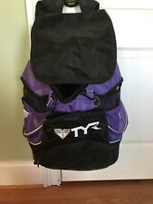 Extra Large TYR Backpack Transition Swim Bag Purple, Lots of Storage/ Pockets