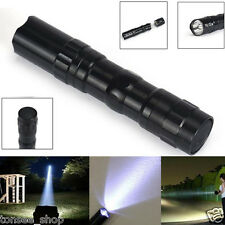 3W Super Bright Police LED Torch With Clip Clamp AA Flashlight Focus Lamp Light