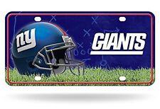 New York Giants Field Design Metal Tag Aluminum Novelty License Plate Football