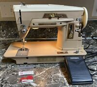 Singer 403A Slant-o-matic Sewing Machine Vintage Foot Pedal Tested Working Used