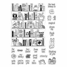 "Hero Arts ""Bookcase Peek-A-Boo Parts"" Poly Clear Stamps 6"" x 8"" set 2020"